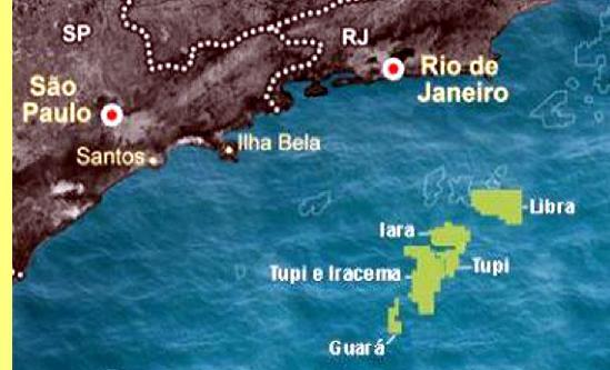 Localização do campo Libra.