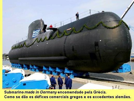 Um dos submarinos que a Alemanha impingiu à Grécia.