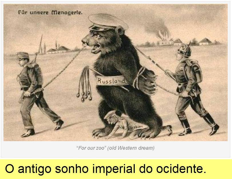 Cartoon da Alemanha do kaiser.