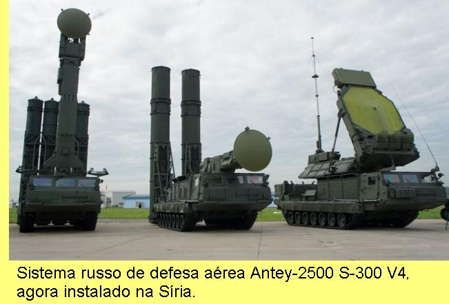 Sistema S-300 de defesa aérea.