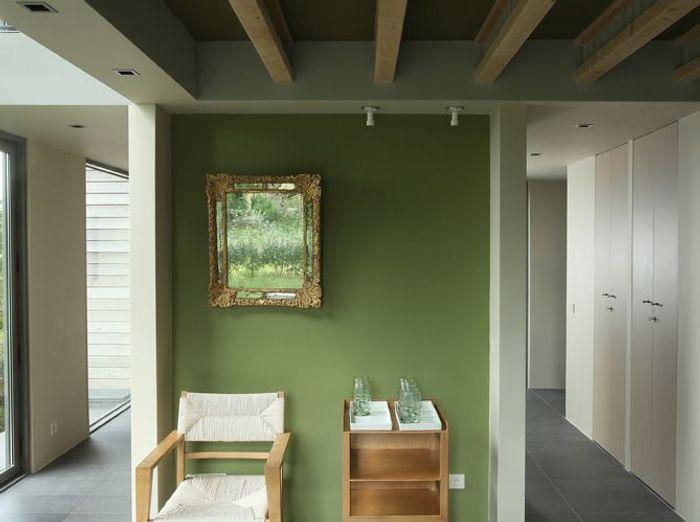 Une Peinture Vert Fort Pour Mon Salon With Tendance