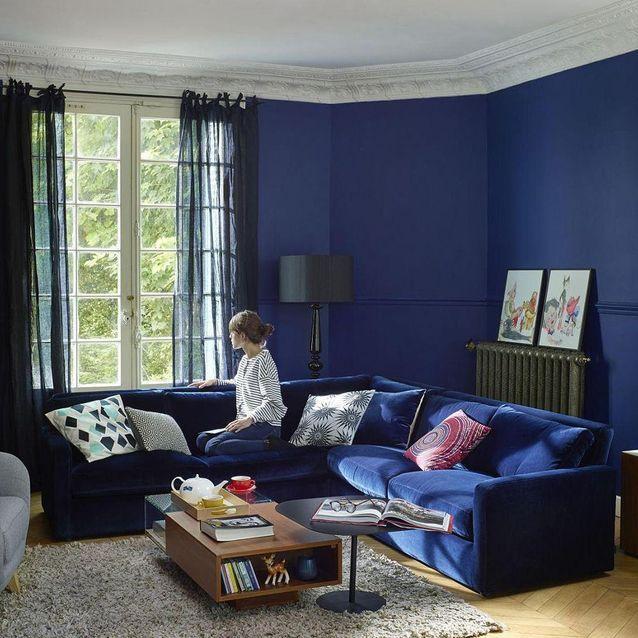 la decoration bleu marine nous inspire