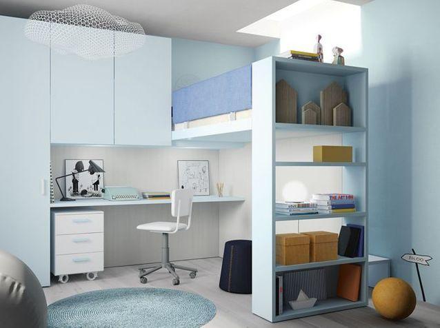 10 Solutions Pour Amenager Le Dessous D Un Lit Mezzanine Elle Decoration