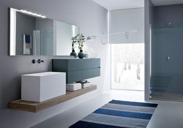 belles salles de bains bleues