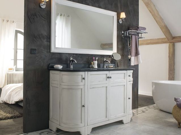 meublevasquesalledebainsalanciennecastorama meublevasquesalledebainsalanciennecastorama c un meuble vasque esprit boudoir pour ma salle de