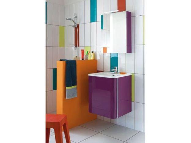 Salle de bains multicolore sanijura