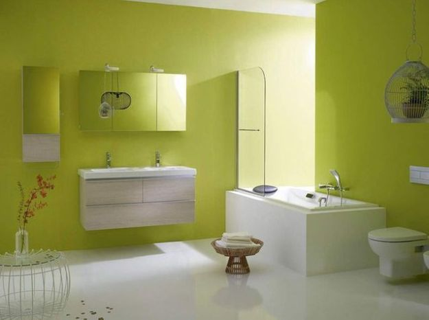 Salle de bains vert anis jacob delafon