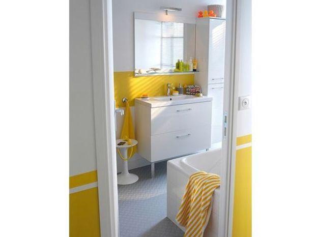 Salle de bains jaune castorama