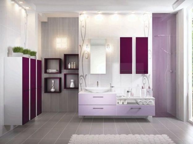 Salle de bains violet cuisines schmidt