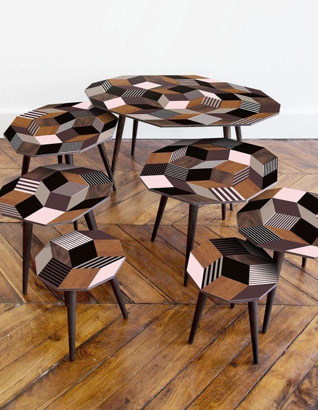 une table basse en bois pour une touche