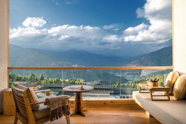 Suite avec balcon Thimphu, Six Senses Bhutan