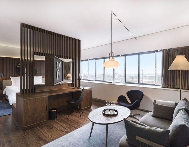 La chambre de l'hôtel Radisson Blue à Copenhague