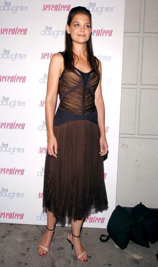 Katie Holmes à New York, en 2004