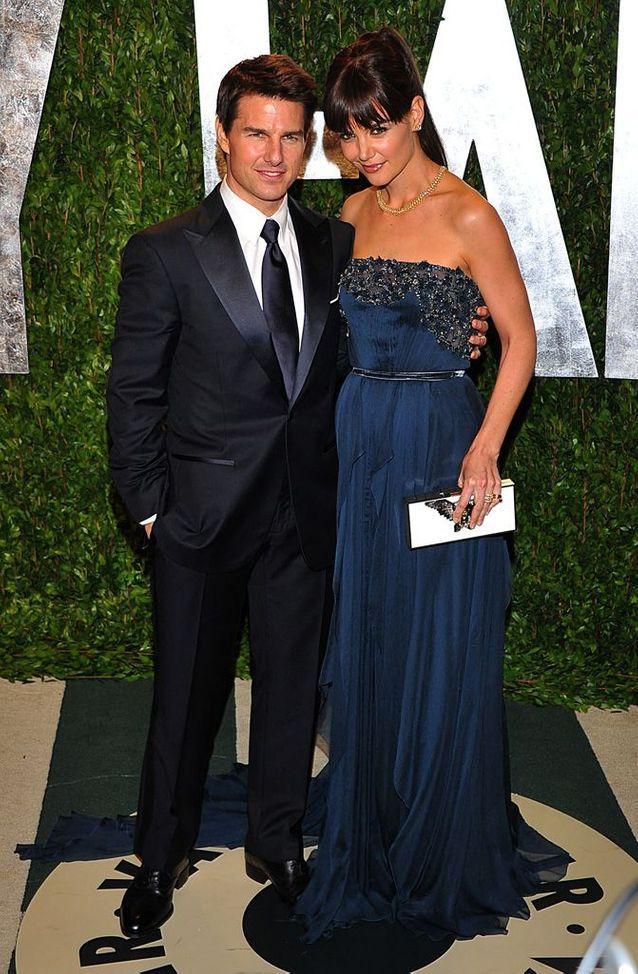 Katie Holmes et Tom Cruise à l'after party des Oscars, en 2012