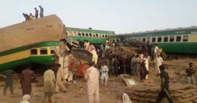 Rail accident in Pakistan, about 30 killed, more than 50 injured in train collision