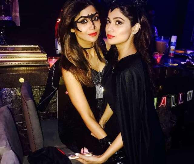 Photos Shilpa Shetty And Sister Shamita Celebrate Halloween In Spooky Yet Sexy Avatars