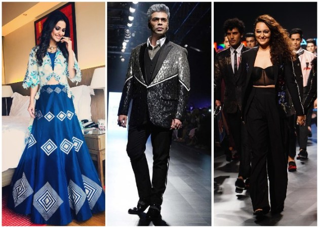 Lakme Fashion Week 2018  Hina Khan  Karan Johar  Sonakshi Sinha walk     On Day 3 of Lakme Fashion Week 2018 Summer Resort kickstarted with bigger  and bolder statement