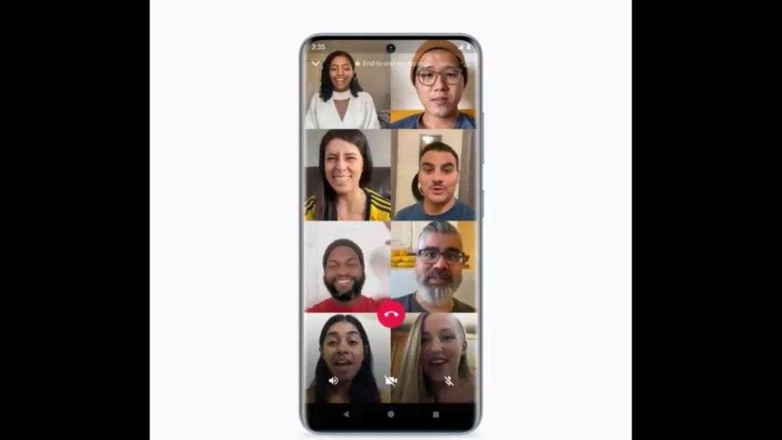 Group video calls WhatsApp