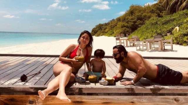 Kareena Kapoor's throwback beach photo with Saif Ali Khan, Taimur ...