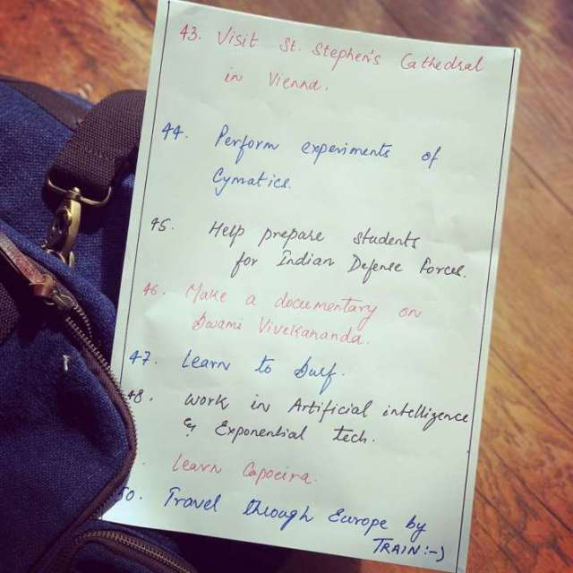 India Tv - Sushant Singh Rajput's 50 wishes list