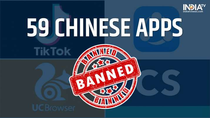 chinese apps banned in india, banned chinese apps, tiktok banned, india bans chinese apps, 59 chines
