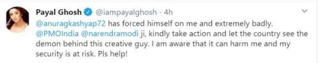 India Tv - Payal Ghosh Tweet