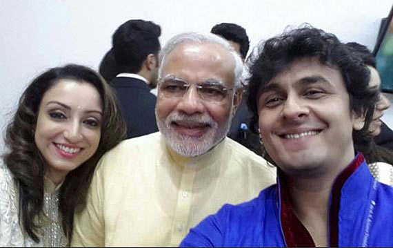 India Tv - On PM Modi's birthday, witness his iconic selfie moment with Bollywood celebrities