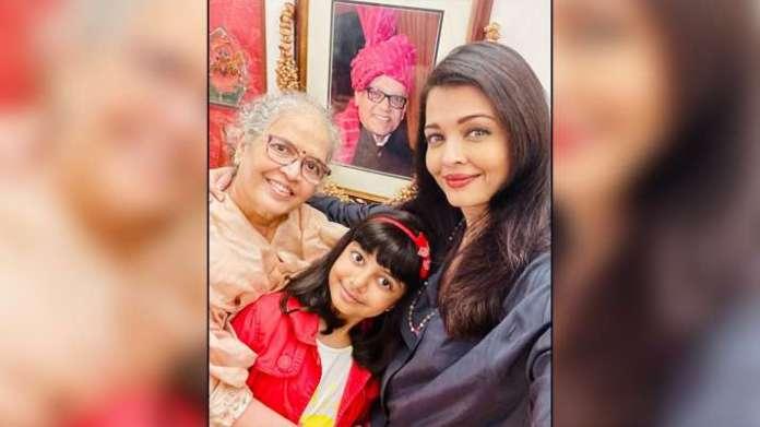 aishwarya rai 1608693259 ऐश्वर्या राय बच्चन ने माँ, बेटी आराध्या के साथ अपने माता-पिता की सालगिरह पर मनमोहक तस्वीर साझा की