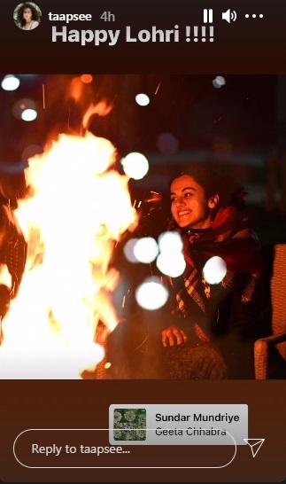India Tv - Lohri 2021: From Kangana Ranaut to Taapsee Pannu, check Bollywood celebs creative wishes
