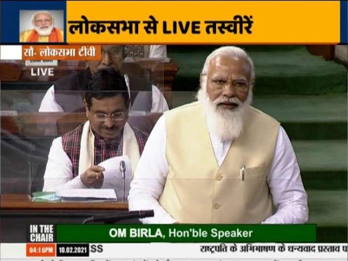 Pm modi lok sabha live speech, pm modi lok sabha speech, pm modi on farmers protest, farmers protest