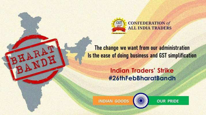 India Tv - CAIT gives Bharat Bandh call for February 26
