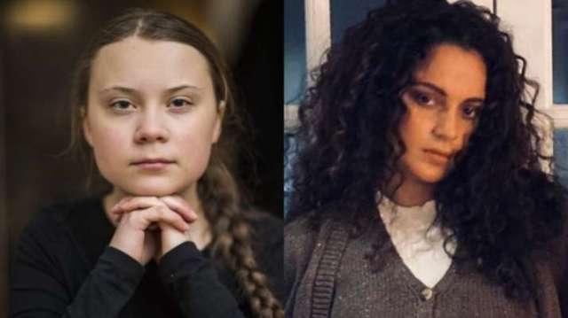 Kangana Ranaut, Greta Thunberg