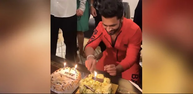India Tv - Bigg Boss 14: Rahul Vaidya and Rubina Dilaik celebrate with tasty cakes |  see the pictures