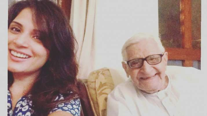 Richa Chadha pens goodbye note for Ali Fazal's late grandfather, says 'heart is heavy & the tears won't stop'