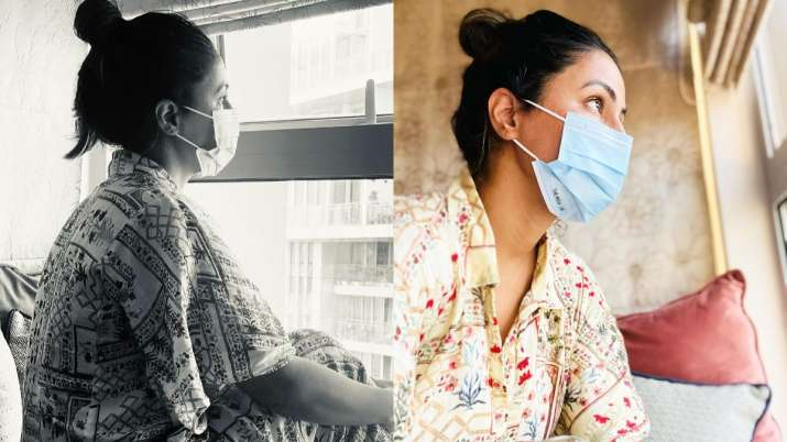 Hina Khan calls herself 'helpless daughter' for being unable to comfort her mother after father's demise