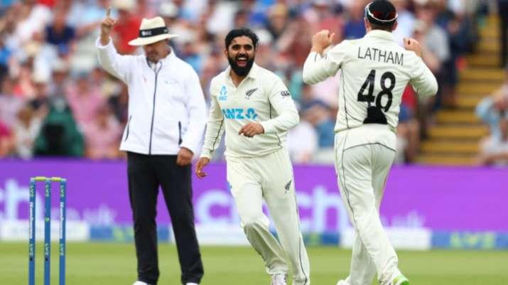 India Tv - Ajaz Patel with Tom Latham