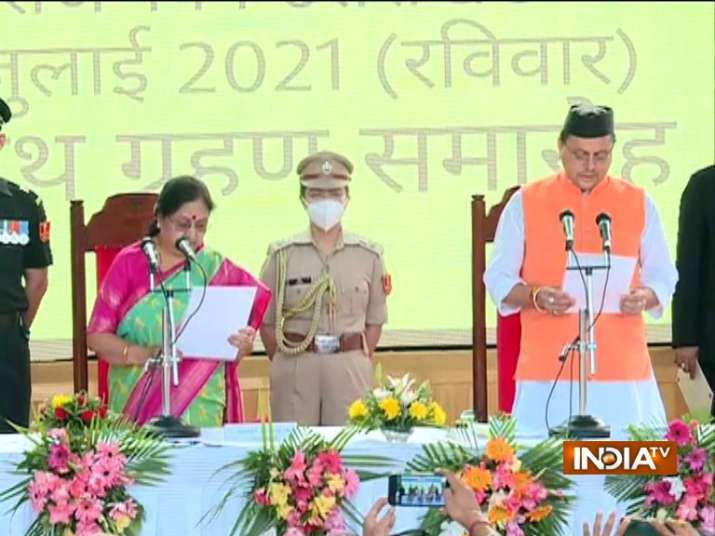 Pushkar Singh Dhami takes oath as 11th chief minister of