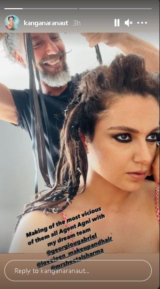 India Tv - Kangana Ranaut shares glimpse of her vicious 'Dhaakad' character, Agent Agni. See here