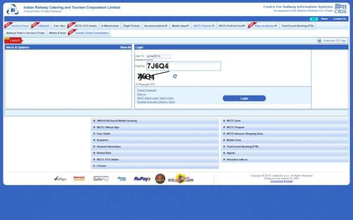 India Tv - online train reservations and ticketing system was launched IR's IRCTC system in 2002