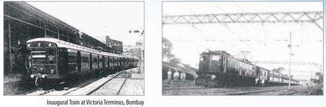 India Tv - Inaugural Train at Victoria Terminus, Bombay