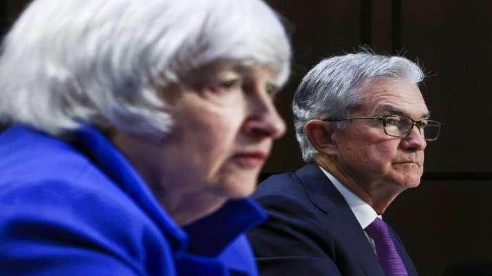 Treasury Secretary Janet Yellen, left, and Federal Reserve