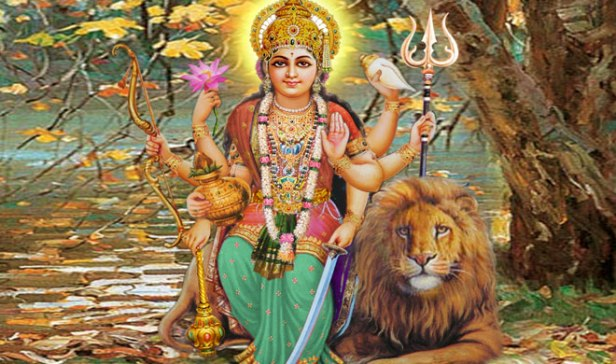Image result for Durga riding a lion