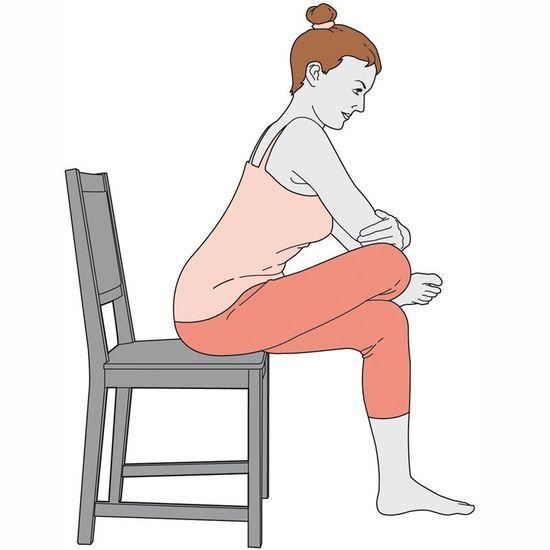 yoga avec une chaise version femina