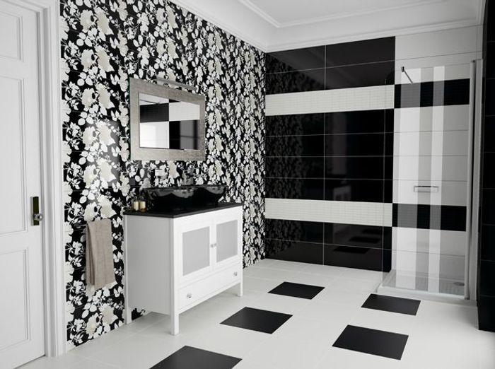 La Salle De Bains Shabille En Noir Et Blanc Elle Dcoration