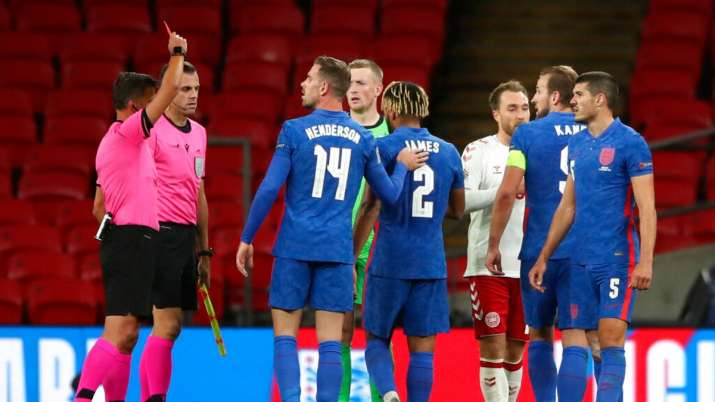 Harry Maguire and Reece James were red-carded in England's