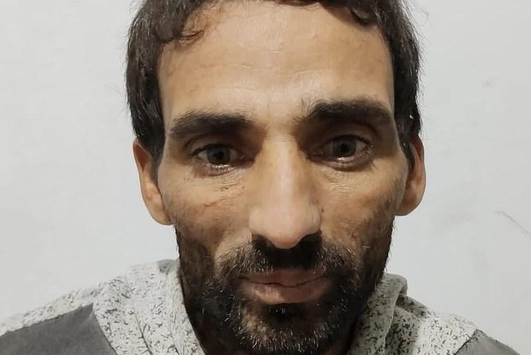El sospechoso después de su detención