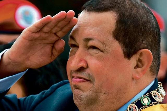 Hugo Rafael Chávez Frías, presidente de Venezuela desde el 2 de febrero de 1999 hasta su fallecimiento, en 2013