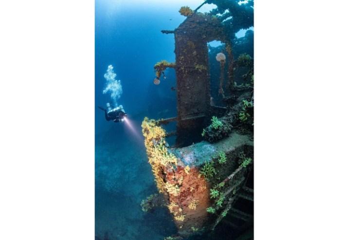 Parte del interior de la nave que mantiene su estructura original intacta siete décadas después del accidente    Foto: Martín Strmiska/ Caters News