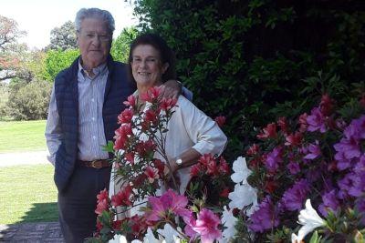 Alejandro Patron Costas y María Mercedes Luque en su casa en San Lorenzo.