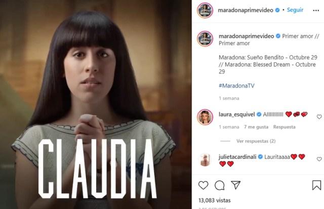 Laura Esquivel se pone en la piel de Claudia Villafañe cuando recién conoció a Diego Maradona
